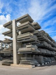lagerplatzsysteme für elementwände, elementdecken und betonfertigteile