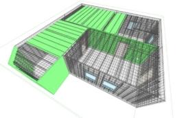Model BIM z elementami betonowymi fdu