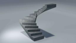 fdu Élément préfabriqué en béton, exemple d'escalier en béton