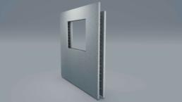 fdu elementwand van staalbeton met venster